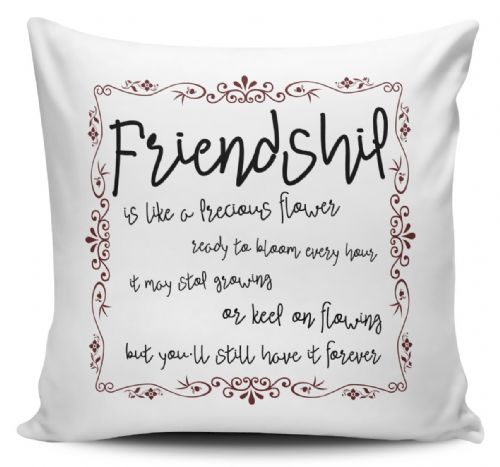 Friendship Is Like A Flower Ready To Bloom Every Hour Novelty Cushion Cover